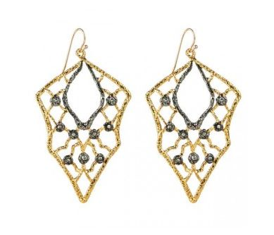 """To buy click <a href=""""http://www.alexisbittar.com/feature/best-friend/jardin-lace-wire-ear-bc32e022.html"""" target=""""_blank"""">HER"""