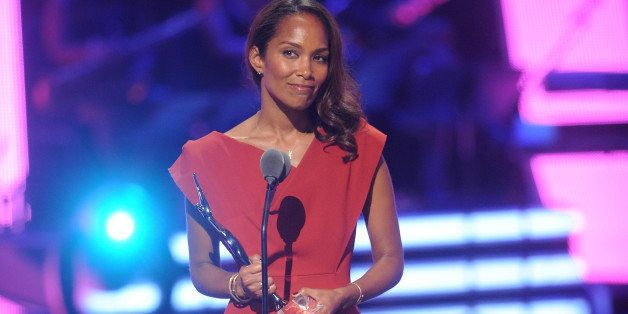 NEWARK, NJ - OCTOBER 26:  Mara Brock Akil speaks at the BET Black Girls Rock show at New Jersey Performing Arts Center on Oct