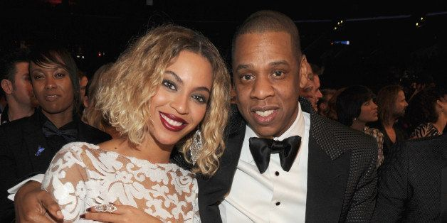 LOS ANGELES, CA - JANUARY 26:  Beyonce and Jay-Z attend the 56th GRAMMY Awards at Staples Center on January 26, 2014 in Los A