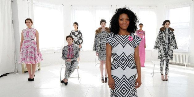 NEW YORK, NY - FEBRUARY 06:  Designer  Dom Streater poses at the Dom Streater presentation during Mercedes-Benz Fashion Week