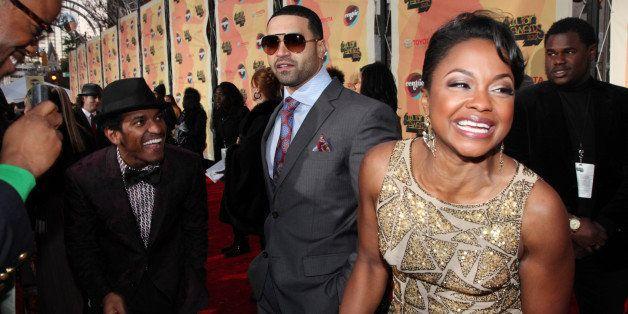 ATLANTA, GA - NOVEMBER 17:  (L-R) Lloyd, Apollo Nida, and Phaedra Parks attend the Soul Train Awards 2011 at The Fox Theatre