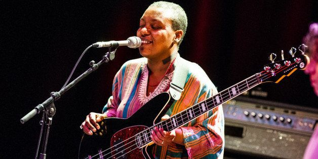 PARIS, FRANCE - JUNE 04: Meshell Ndegeocello performs at La Cigale on June 4, 2012 in Paris, France. (Photo by David Wolff -