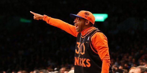 NEW YORK, NY - DECEMBER 11:  (NEW YORK DAILIES OUT)   Film director Spike Lee attends the NBA game between the Brooklyn Nets