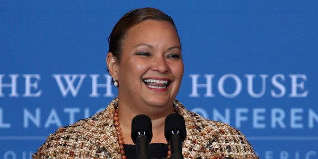 WASHINGTON, DC - DECEMBER 05:  Environmental Protection Agency Administrator Lisa Jackson addresses the White House Tribal Na
