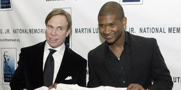 BEVERLY HILLS - FEBRUARY 28:  (L-R) Designer Tommy Hilfiger and recording artist Usher attend the Los Angeles Dream Dinner be