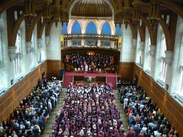 Graduands at Bristol are unusual in that they don't wear mortarboards at all, because once, according to legend, too many got