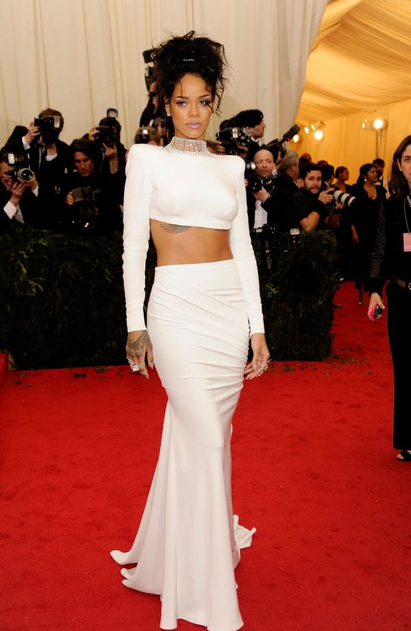 Leave it to Rihanna to sport arguably the sexiest dress of the night. She certainly knows how to turn heads and drop jaws. We