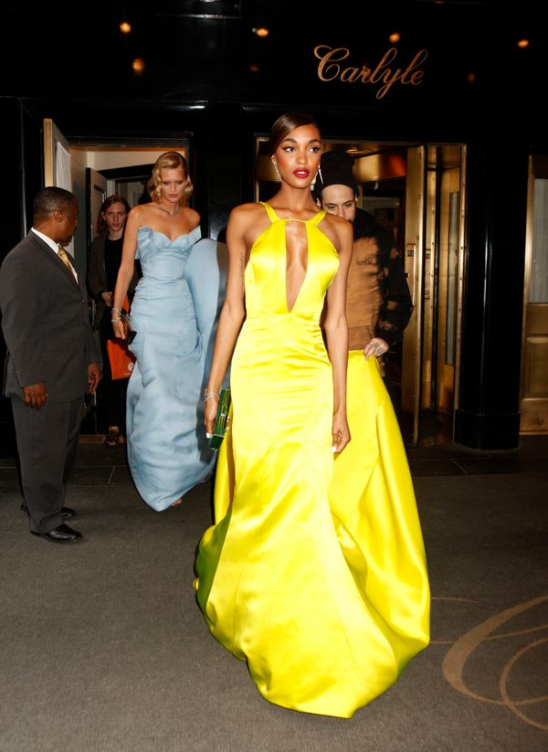 There is nothing mellow about this yellow gown. While we didn't see many bright colors on the Met Gala red carpet, Jourdan wa