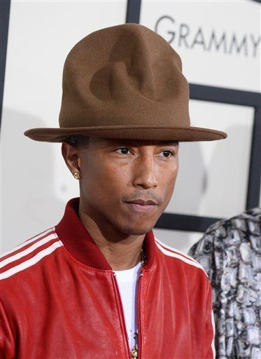 Williams stole the show at the 2014 Grammys with his Vivienne Westwood Buffalo Gals hat.