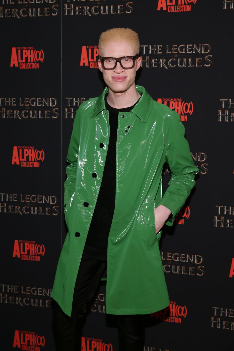 NEW YORK, NY - JANUARY 06:  Model Shaun Ross attends the 'The Legend Of Hercules'   premiere at the Crosby Street Hotel on Ja