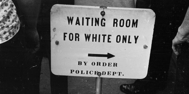 25th May 1961:  A police sign for a 'white only' waiting room at the bus station in Jackson, Mississippi.  (Photo by William