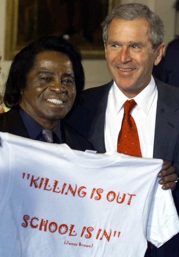 James Brown's early involvement with social issues also transcended into Politics. Publicly known as a Republican, Brown endo