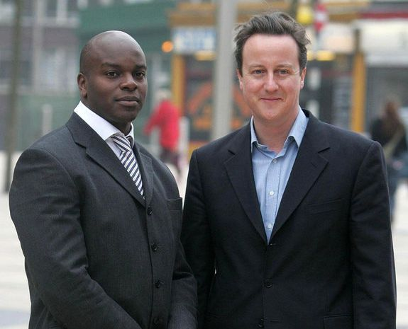Tory mayoral candidate Shaun Bailey with former Prime Minister David