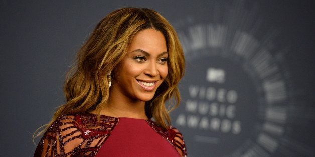 Beyonce poses in the press room at the MTV Video Music Awards at The Forum on Sunday, Aug. 24, 2014, in Inglewood, Calif. (Ph