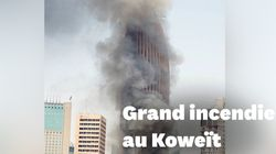 Les terrifiantes images de l'incendie du gratte-ciel de la banque nationale du