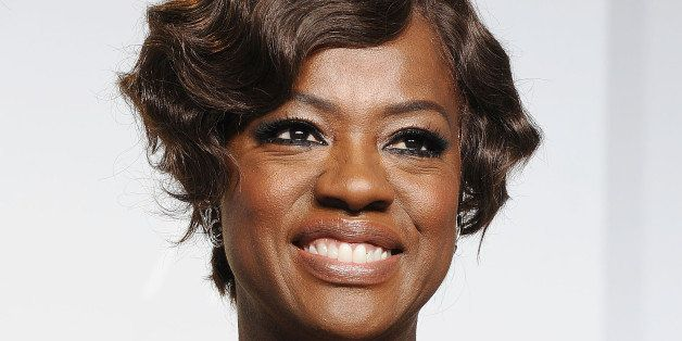HOLLYWOOD, CA - MARCH 02:  Actress Viola Davis poses in the press room at the 86th annual Academy Awards at Dolby Theatre on