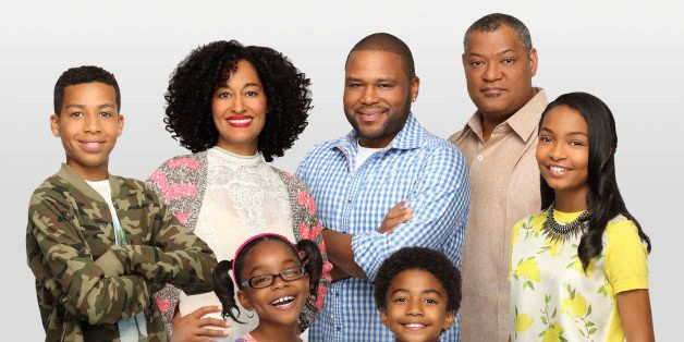 BLACK-ISH - 'Black-ish' stars Marcus Scribner as Andre Jr., Tracee Ellis Ross as Rainbow, Marsai Martin as Diane, Anthony And