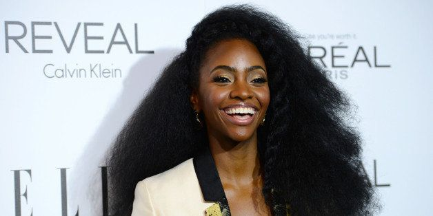 Teyonah Parris arrives at ELLE's 21st annual Women In Hollywood Awards at the Four Season Hotel on Monday, Oct. 20, 2014, in