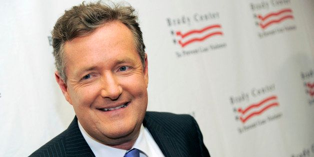 FILE - This May 7, 2013 file photo shows Piers Morgan at the Brady Campaign to Prevent Gun Violence Los Angeles Gala in Bever