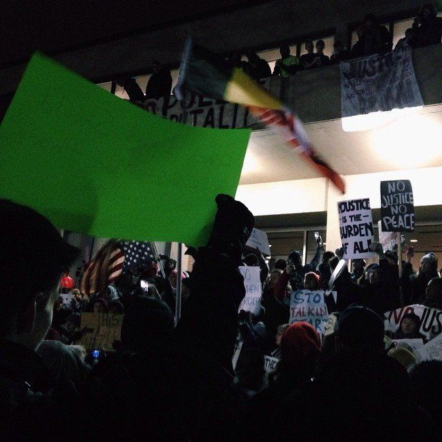 Peaceful protest in Minneapolis, MN on Tues. Nov 25, 2014.
