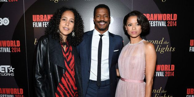 NEW YORK, NY - SEPTEMBER 18:  (L-R)  Writer/director Gina Prince-Bythewood, actors Nate Parker and Gugu Mbatha-Raw attend BEY