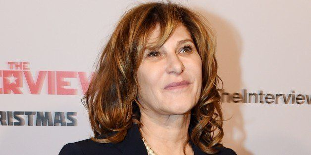 Sony Pictures Chair Amy Pascal arrives for the premiere of the film 'The Interview' at The Theatre at Ace Hotel in Los Angele