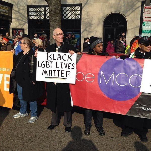 Protestors in Freedom Plaza in Washington, DC on Saturday, Dec. 13, 2014.