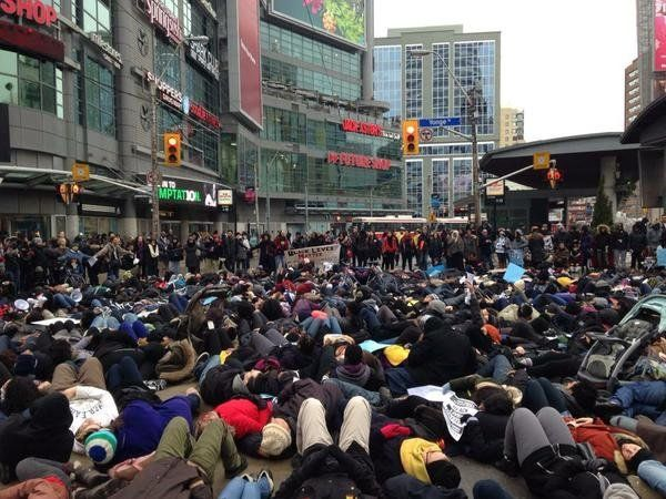 Toronto Die-In on Dec. 13, 2014.