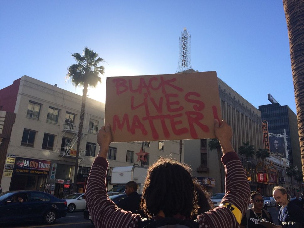 Los Angeles protest on Dec. 13, 2014.