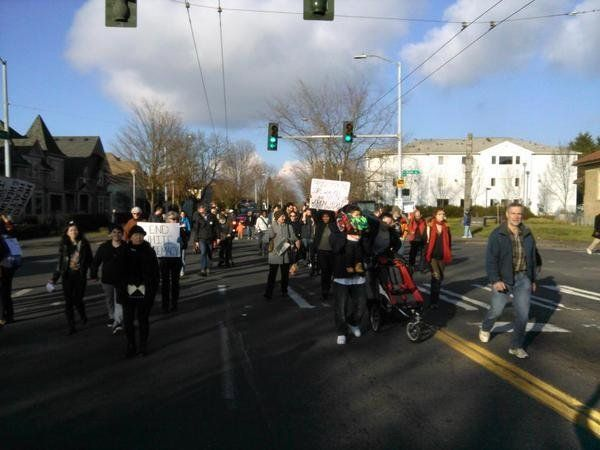 Seattle protests on Dec. 13, 2014.