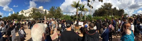 San Diego protests on Dec. 13, 2014.