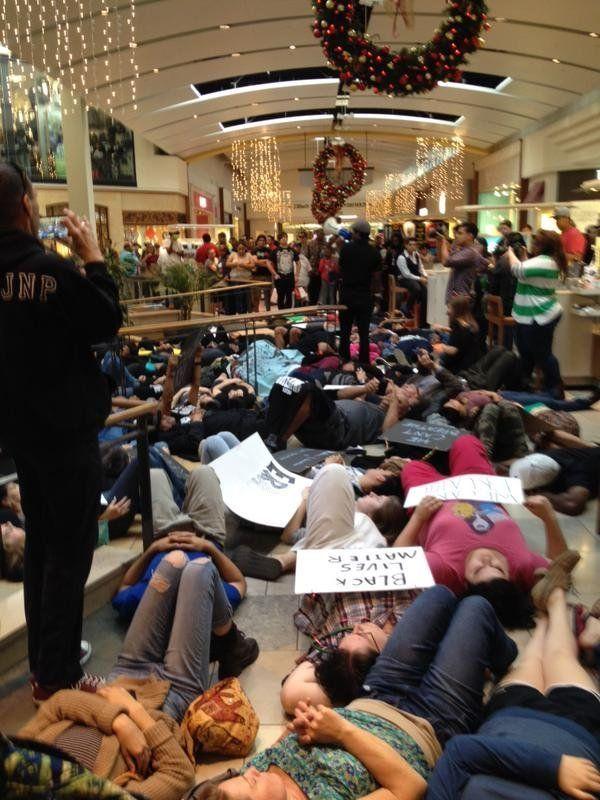 San Antonio protests at North Star Mall on Dec. 13, 2014.