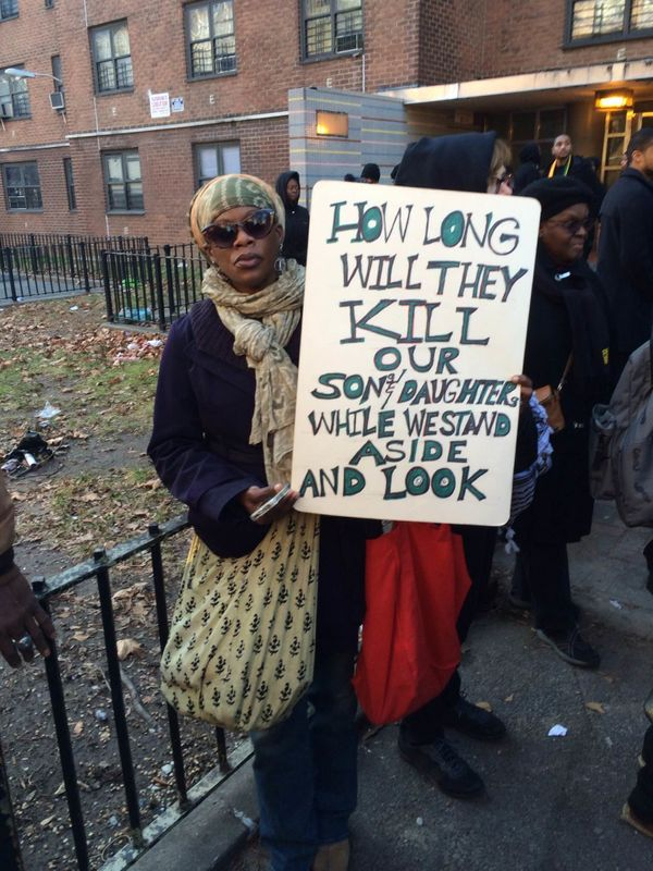 Protesters march for Akai Gurley in Brooklyn on Dec. 27, 2014.
