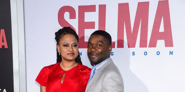 NEW YORK, NY - DECEMBER 14:  Director Ava DuVernay (L) and actor David Oyelowo enter the 'Selma' New York Premiere at the Zie