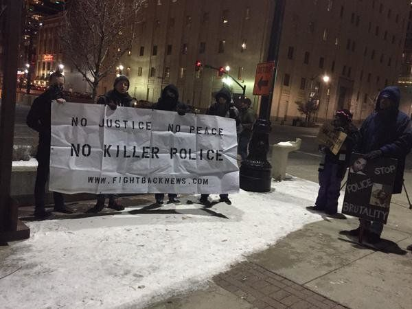 Protesters in Salt Lake City, Utah on Dec. 31, 2014.