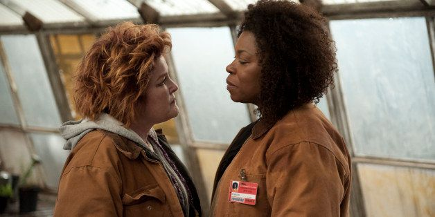 "This image released by Netflix shows Kate Mulgrew, left, and Lorraine Toussaint in a scene from ""Orange is the New Black.â€"