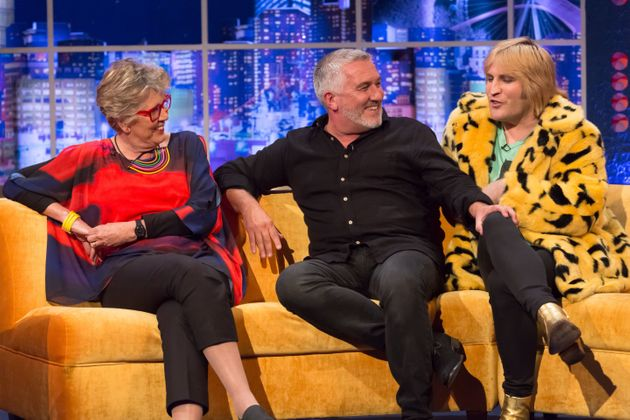 Paul appears on 'The Jonathan Ross Show' with 'GBBO' co-stars Prue Leith and Noel
