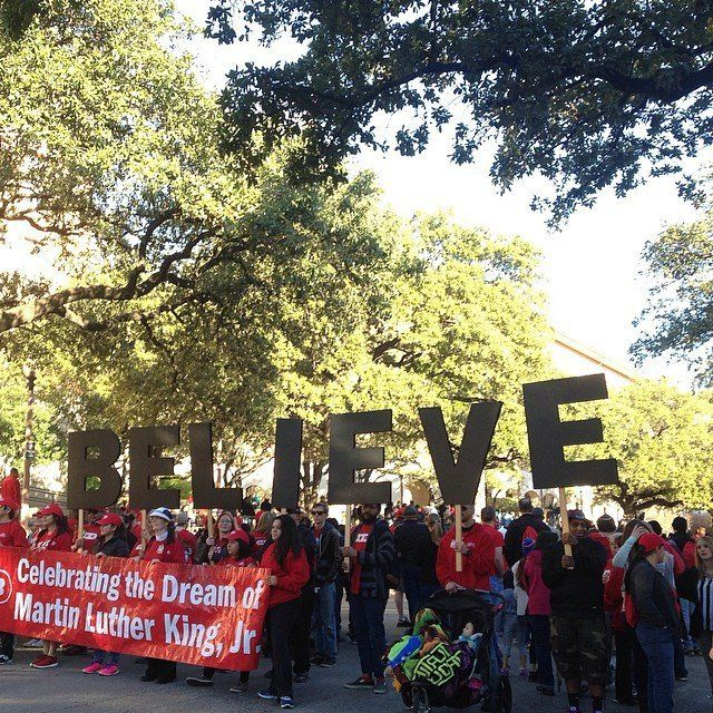 March celebrating Martin Luther King Jr. in Austin, Texas, on Jan. 18, 2015.