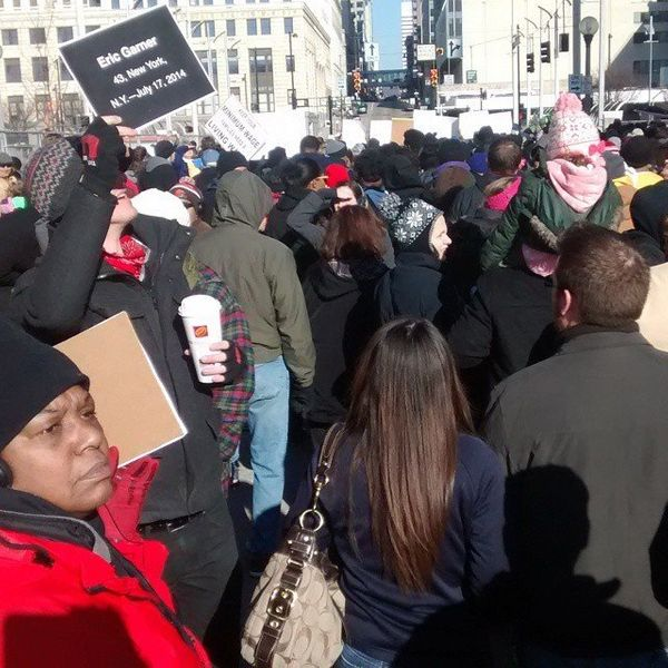 Cincinnati march on Martin Luther King Jr. Day, Jan. 19, 2015.