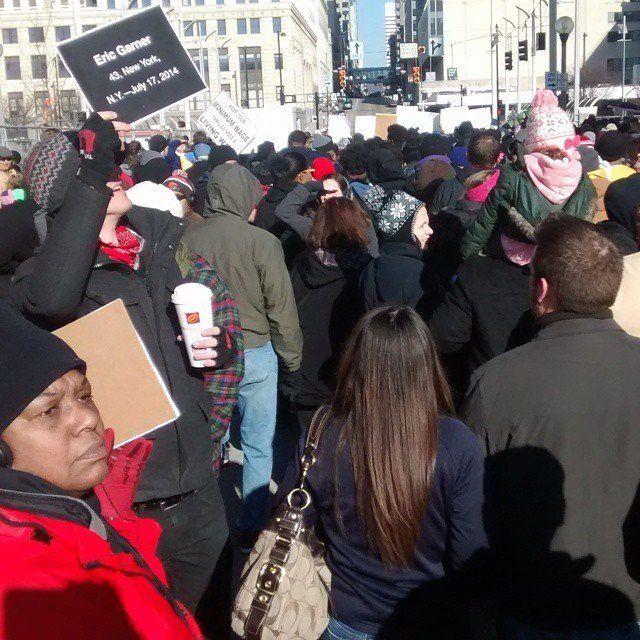 Cincinnati march on Martin Luther King Jr. Day, Jan. 19, 2015.