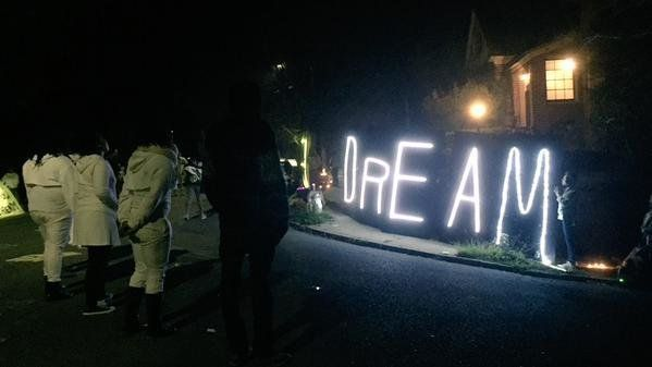 #WakeUpTheMayor protest outside the home of the mayor of Oakland, California, on Jan. 19, 2015.