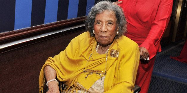 NEW YORK, NY - FEBRUARY 25:  Civil rights hero Amelia Boynton attends the 2011 Trustees Emmy Award for Lifetime Achievement d