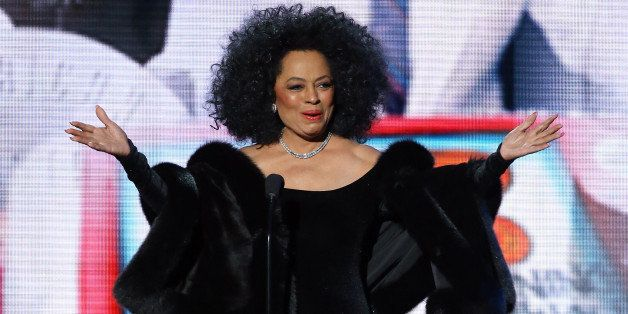 LOS ANGELES, CA - NOVEMBER 23:  Recording artist Diana Ross speaks onstage during the 2014 American Music Awards held at Noki