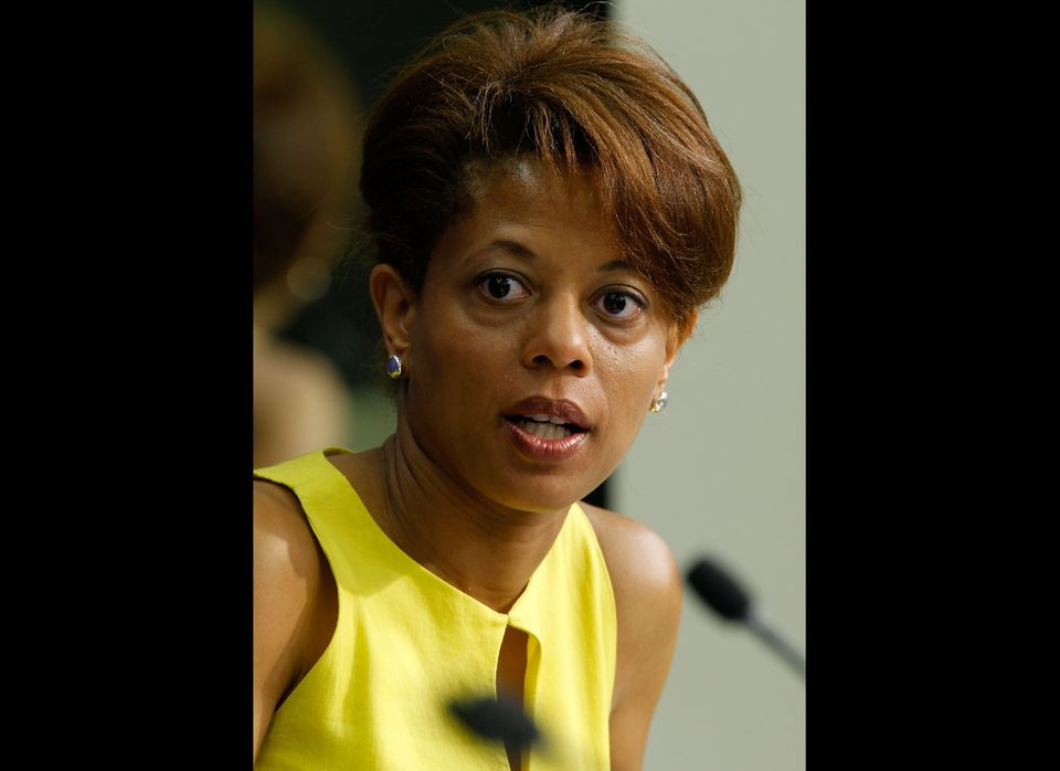WASHINGTON - JUNE 02:  Assistant to President Barack Obama and Director of the Domestic Policy Council Melody Barnes speaks d