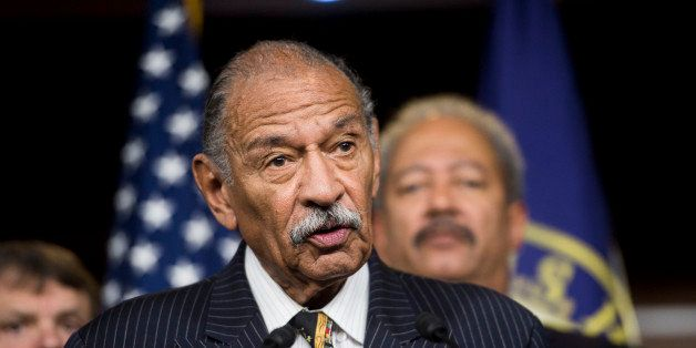 UNITED STATES - NOVEMBER 13: Rep. John Conyers, Jr., D-Mich., speaks as House Democrats hold a news conference to call for pr