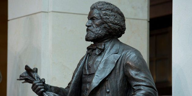 UNITED STATES - June 19: The Fredrick Douglass statue sits in the Emancipation Hall in the Capitol Visitors Center of the U.S