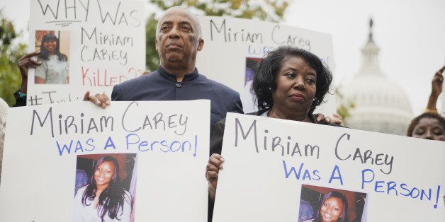 UNITED STATES - OCTOBER 3: Idella Carey, mother of Miriam Carey who was killed last year by Capitol Police, and Charles Barro