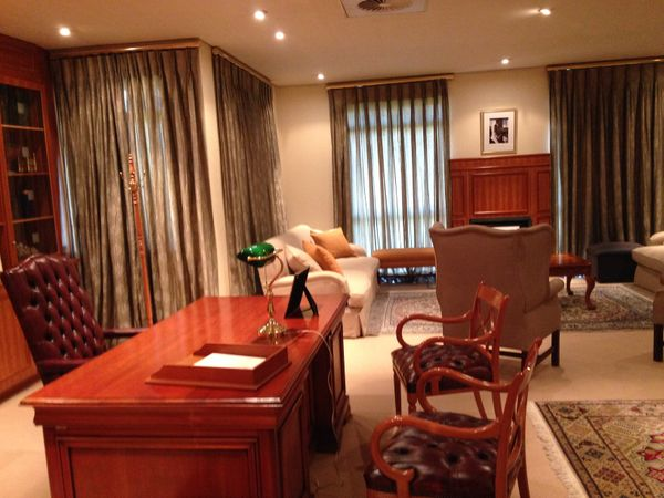 Decorated with the same furniture he once used, this room marks Mandela's post-presidential office, located at the Nelson Man