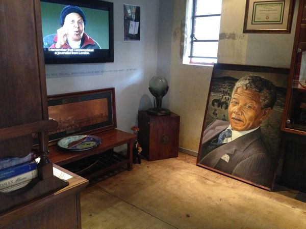 Many artifacts, furniture and paintings still exist inside Mandela's home. While many items have been refurbished, some remai