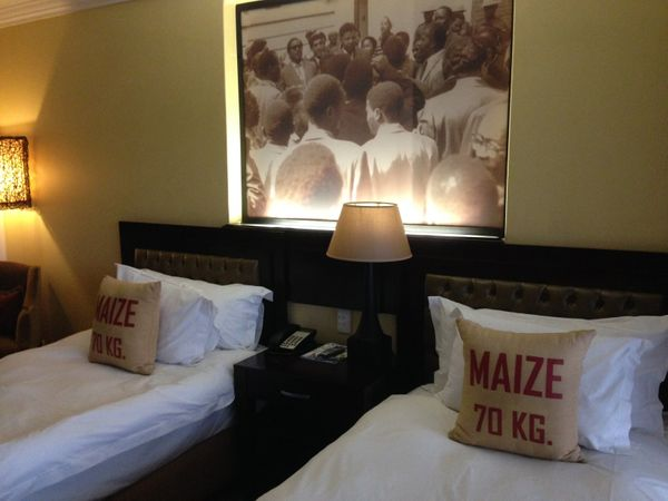 Rooms at the Soweto Hotel in South Africa are decorated with framed photographs portraying a young, spirited Mandela. Soweto